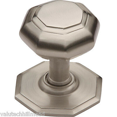 Heritage Brass Octagonal Center Door Knob, Finish: Satin Nickel
