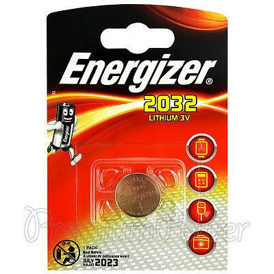 1 x Energizer Lithium CR2032 battery 3V Coin cell DL2032 Alarms Watch