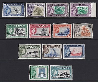 Gilbert & Ellice Islands 1956-62 set of 12 + 2d shade - unmounted mint £115