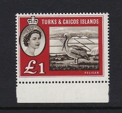 Turks & Caicos SG253 £1 sepia & deep red - unmounted mint