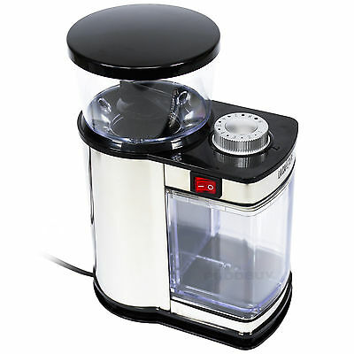 Electric La Cafetiére Coffee Bean Grinder Mill Black & Stainless Steel Electric