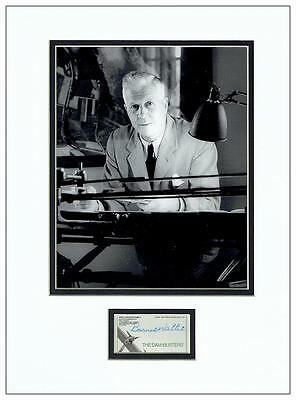 Barnes Wallis Autograph Signed Display - The Dambusters - AFTAL  UACC RD