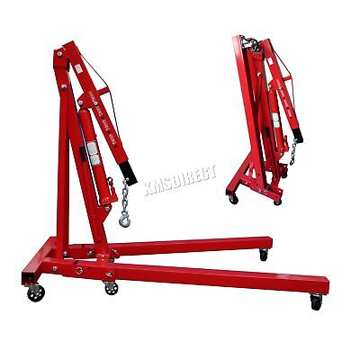 FoxHunter 1 Ton Hydraulic Folding Engine Crane Hoist lift Jack SX0103-2 Red
