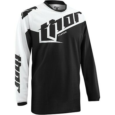 Thor Phase S5 Tilt Motocross Offroad Mx Jersey Black Size Large