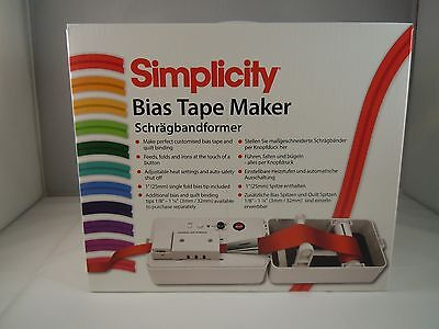 Brand New Simplicity Bias Tape Maker & Quilt Binding