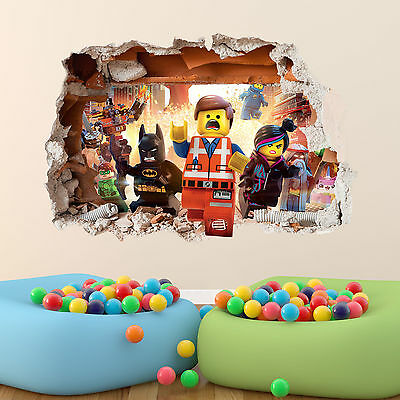Lego Movie Wall Sticker 3D Boys Girls Bedroom Vinyl Wall Art Decal