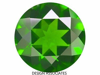 Russian Green Chrome Diopside Round Cut 3 MM