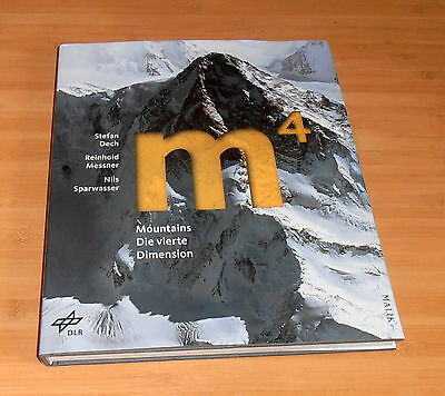 "Reinhold Messner, original signiertes/signed Buch/Book ""M4"" 4rd Dimension, NEW"
