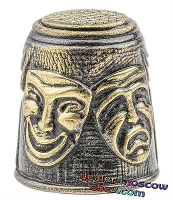 Bronze Solid Brass Baltic Amber Thimble Theatrical Masks IronWork 1226