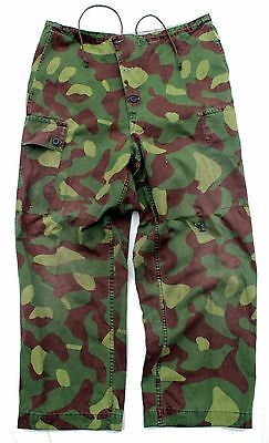 FINLAND ARMY M62 COMBAT OVER TROUSERS in REVERSIBLE CAMO REPAIRED