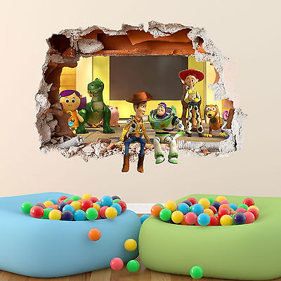 Toy Story Wall Sticker 3D Boys Girls Bedroom Vinyl Wall Art Decal