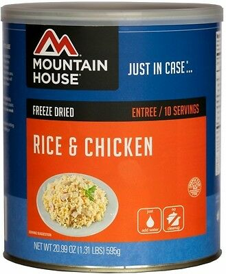 Mountain House #10 Can: Rice & Chicken - Emergency Survival Food, Dehydrated MRE