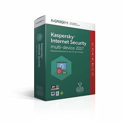 KASPERSKY INTERNET SECURITY 2017/1 PC/1Year, SALE, NEW VERSION ,NO CD, ANTIVIRUS