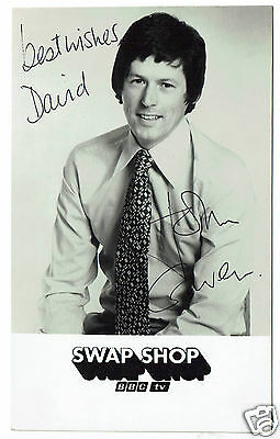 John Craven TV Presenter Hand Signed Vintage Swap shop Photograph 5 x 3