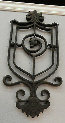 Pair of Heavy Antique Cast Iron Wall Hangings