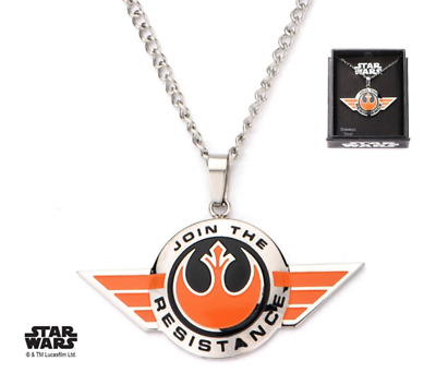 New Disney Park Authentic Star Wars Necklace✿Join the Resistance Stainless Steel