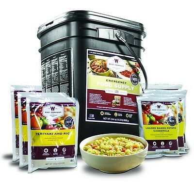 Emergency Food 120 Servings Entrées  – Wise Co., Long-Term, Dehydrated, Survival