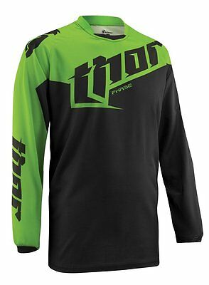 Thor Phase S5 Tilt Motocross Offroad Mx Jersey Green Size Large