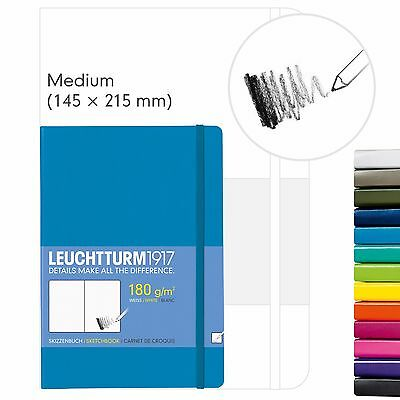 Leuchtturm1917 Hardcover Medium A5 Artists Sketchbook 180gsm - Choose Colour