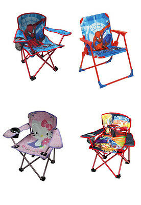 Childrens Kids Camping Garden Cahir Chairs Perfect for Girls And Boys - Various