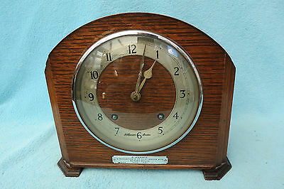 Vintage J W Benson 8 Day Striking Mantel Clock