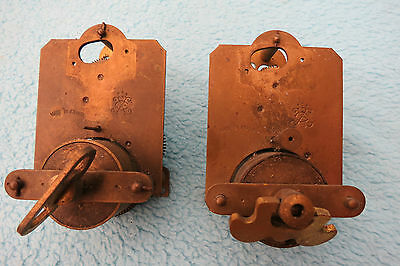 X 2 Small Antique French Clock Movements For Spares