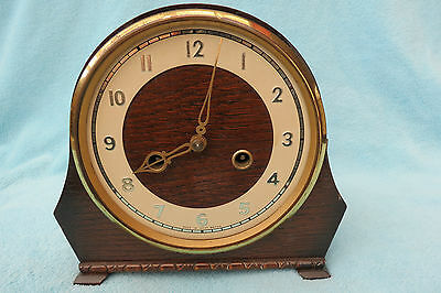 Vintage Smiths 8 Day Striking Mantel Clock For Tlc