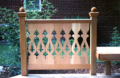 Quality LANCASTER PATTERN Cedar Flat Sawn Balusters For Porch Or Deck Railing