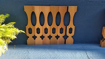 17 Awesome CEDAR OVAL VASE Sawn Balusters for Victorian Porch Or Deck Railing