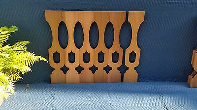 17 Quality VASE PATTERN Cedar Flat Sawn Balusters For Porch Or Deck Railing