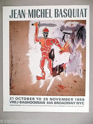 Jean-Michel Basquiat Art Gallery Exhibit PRINT AD - 1989