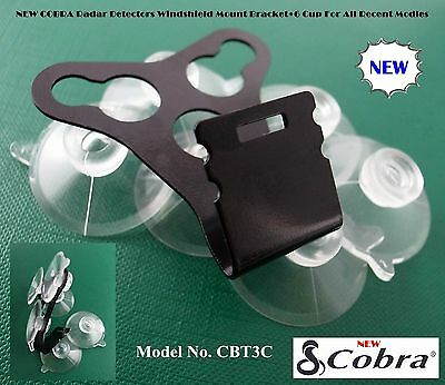 NEW COBRA Radar Detector Windshield Mount Bracket+6 Cups For All New & Old Model