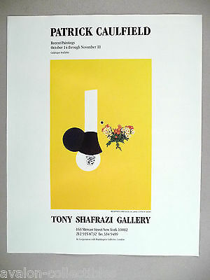 Patrick Caulfield Art Gallery Exhibit PRINT AD - 1989 ~~ Reception