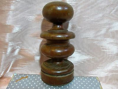 Antique Newel Post Finial or Bed Post Finial, Reclaimed