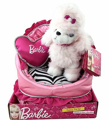 Barbie Fashion Pet Sequin the Puppy with Bed and Pillow Plush