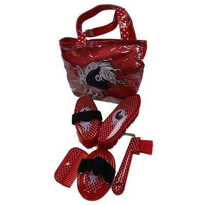 STC Pony Grooming Kit 6pc with carry bag super cute for little hands RED
