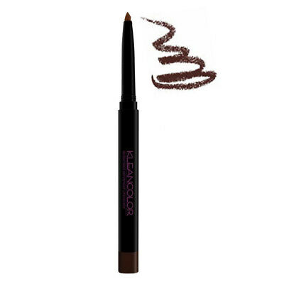 (6 Pack) KLEANCOLOR Retractable Waterproof Lip & Eye Liner - Dark Brown