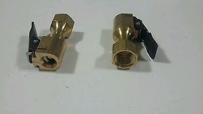 2 New  Dill Manufacturing 6293E Brass Clip-On Air Chuck ,  Made In Usa