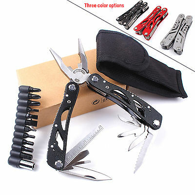 Multifunction Outdoor Survive Camping Multi Tool Kit Pocket Pliers Tools