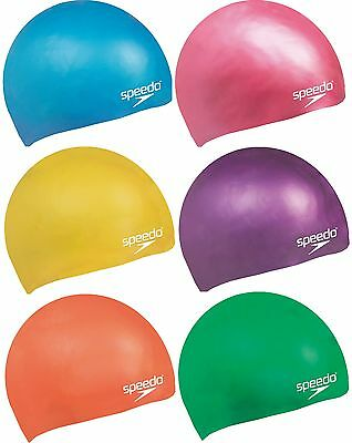 Speedo Junior Swim Cap Silicone Moulded Kids Swimming Hair Protection 6-14 Years