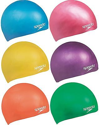 Speedo Junior Swim Cap Silicone Moulded  Kids Swimming Hair Protection