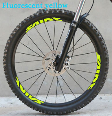 SHIMANO saint Mountain Bike Bicycle wheel set Rim Stickers for MTB DH Race decal