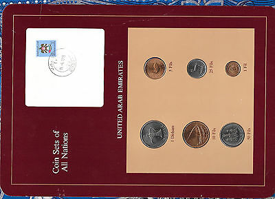 Coin Sets of All Nations UAE United Arab Emirates UNC 1973-1986 1, 50 Fils 1973