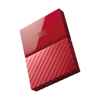 WD Western Digital 2TB My Passport Ultra Portable External HDD Hard Drive Red