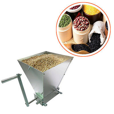 Grain Crusher Grain Processor Stainless Rollers Homebrew Malt Mill Grain Mill
