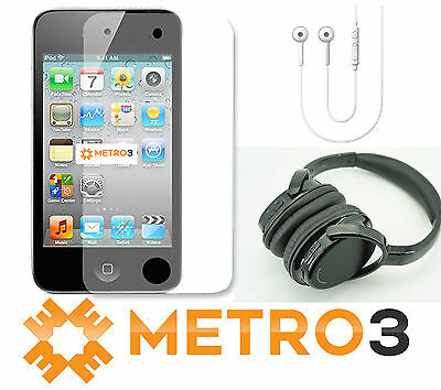 32GB Apple Ipod Touch Gen 4 WiFi | REFURB w BLUETOOTH Headphones + Screen Protec