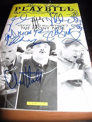 The Front Page Broadway playbill Autographed by John Slattery & Cast RARE COVER!