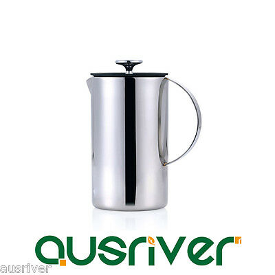 1200ml Double Layers Stainless Steel Coffee Plunger French Press Tea Maker Home