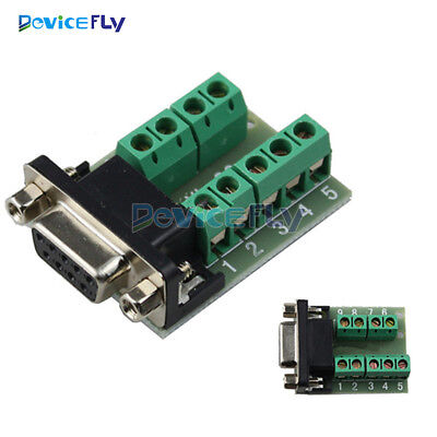 DB9 Female Adapter Connector Signals Terminal Module RS232 Serial to Terminal