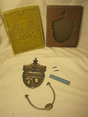 vintage door knocker ornate Bi-centennial America USA metal eagle bell flag  nos